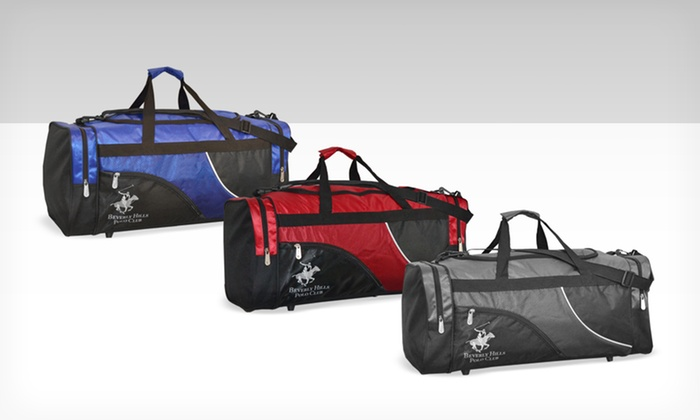 Beverly Hills Polo Club 24'' Duffle Bag: $24.99 for a Beverly Hills Polo Club 24'' Duffle Bag ($160 List Price). 3 Colors Available. Free Shipping and Returns.