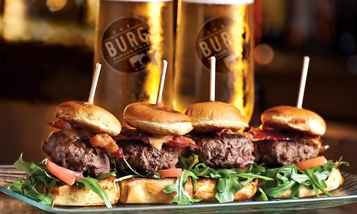 The Burg - Downtown: Burgers for Parties of Two or Four at The Burg (43% Off)