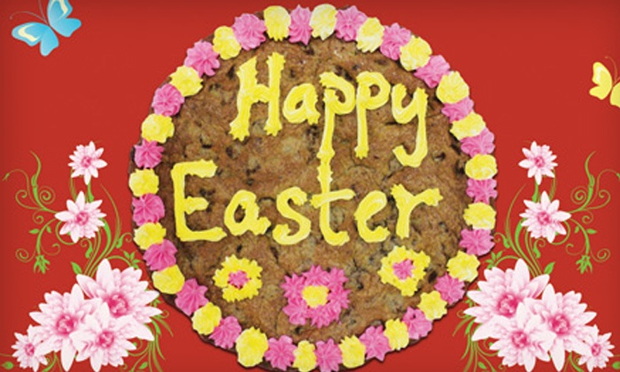 Hungry Bear Cookies - Multiple Locations: One or Two Eight-Inch Easter-Themed Cookie Cakes at Hungry Bear Cookies (Up to 50% Off)