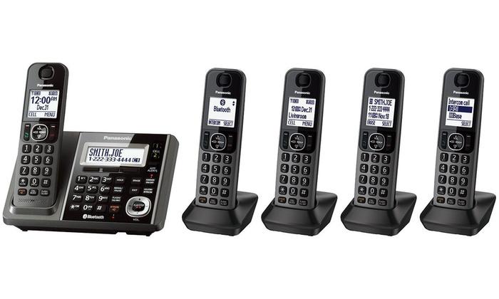 Panasonic 5-Handset Cordless Landline Phone System with Bluetooth: Panasonic 5-Handset Cordless Landline Phone System with Bluetooth (Manufacturer Refurbished)