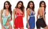 Idc Marketing: Halter-Style Lace Lingerie Set: One ($15) or Two ($25)