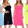 Juniors' Ruched-Top Dress
