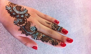 Spice World Indian Grocery: One or Three Henna Tattoos or Two Hours of Henna Tattoos for Group at Spice World Indian Grocery (Up to 50% Off)
