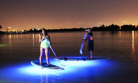 LED Light Night Paddleboard Tour for Two or Four at Blue Moon Outdoor Center (55% Off)