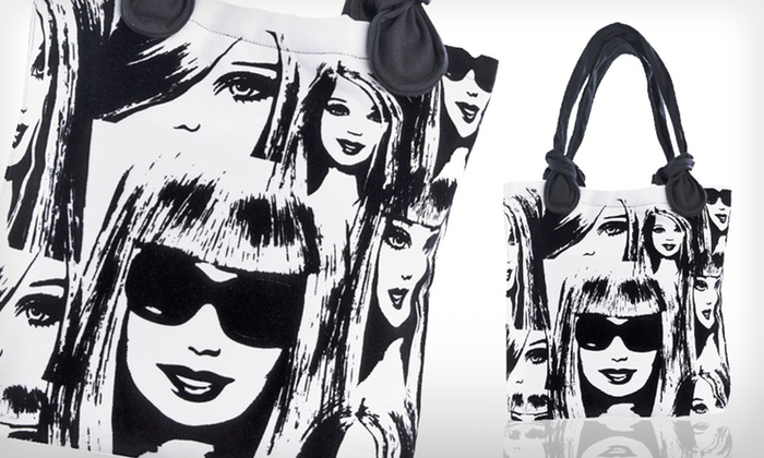 Barbie Tote Bag: $15 for a Barbie Many Faces Flocked Tote Bag ($27.99 List Price). Free Shipping.