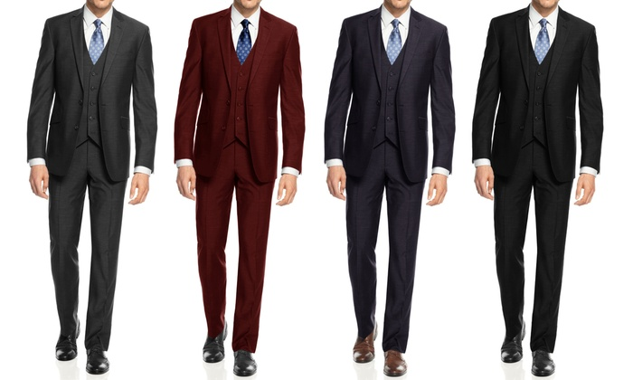 88% Off on Braveman Slim Fit 3-Piece Suits | Groupon Goods