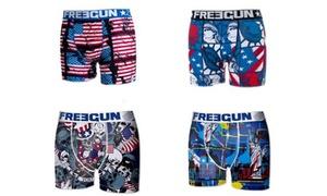 4 boxers Freegun en microfibre