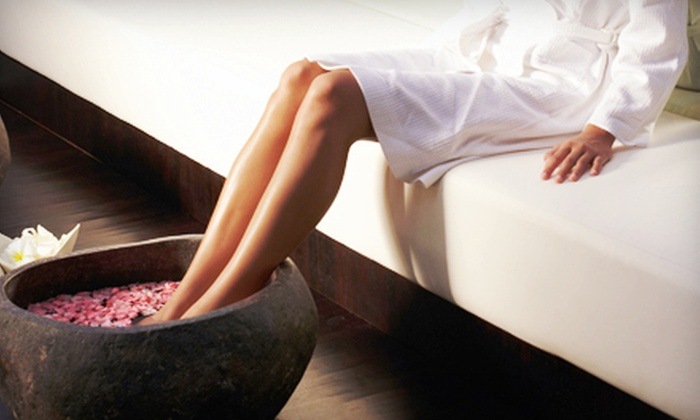 Mellow Me Out - Multiple Locations: $59 for Massage, Facial, or Pedicure with Hot-Stone Footbath, Foot Scrub & Hand Treatment at Mellow Me Out ($119 Value)