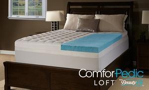 "Comforpedic Loft from BeautyRest 4.5"" Gel Memory Foam and Fiber Topper"