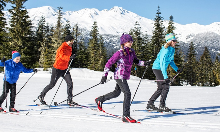 Ski Callaghan - Whistler Olympic Park: Nordic-Skiing Passes for Two or Four Adults at Ski Callaghan (50% Off)