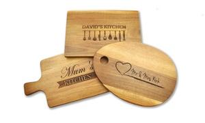PhotoBook Shop: Tagliere personalizzabile in legno di acacia disponibile in varie misure con PhotoBook Shop (sconto fino a 78%)