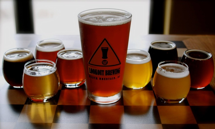 Lookout Brewing Company - Black Mountain: Brewery Package with Beer and Souvenir Glasses for Two or Four at Lookout Brewing Company (51% Off)