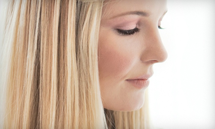 Prestige Hair Design - Cross Creek: Haircut and Deep-Conditioning Treatment with Optional Partial or Full Highlights at Prestige Hair Design (Up to 61% Off)