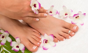 NailGanics Spa: Spa Mani-Pedi or Gel Manicure and Spa Pedicure with Sugar Scrub at Massage at NailGanics Spa (Up to 36% Off)