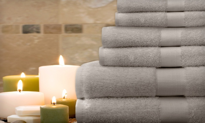 Luxury Egyptian-Cotton Towel Set: $27.99 for a Luxury Egyptian-Cotton Dobby Towel Set in Blue, Chocolate, Olive, or Gray ($80 List Price)