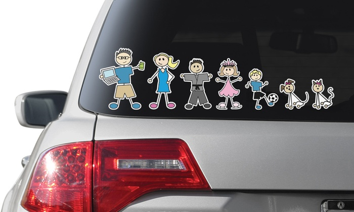 Custom Car Stickers Family