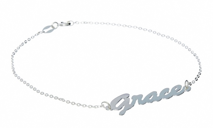 NameJewelrySpot: $24.95 for a Personalized Silver Name Bracelet from NameJewelrySpot ($99.99 Value)