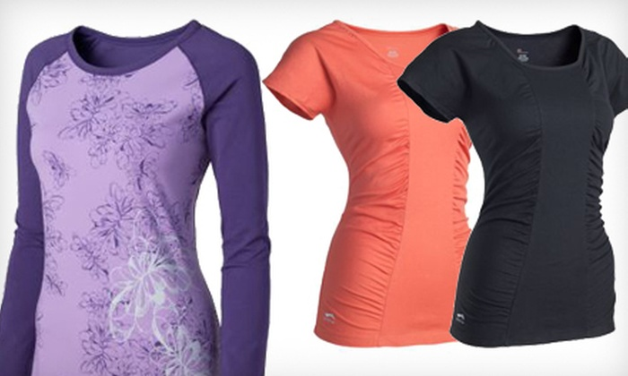 Li-Ning Women's Yoga Tops: Women's Long- or Short-Sleeved Yoga Tops by Li-Ning (Half Off). Multiple Colors and Sizes Available.