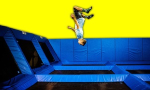 Spring Loaded Indoor Trampoline Park: Full-Day or 2-Hour Open-Bounce Passes at Spring Loaded Trampoline Park (Up to 42% Off). Three Options Available.