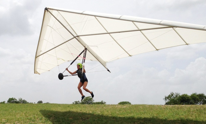 Fly Texas - The Carter Memorial Airport (Hangar 9): Half-Day Hang-Gliding Lesson for One, Two, or Four from Fly Texas (Up to 55% Off)