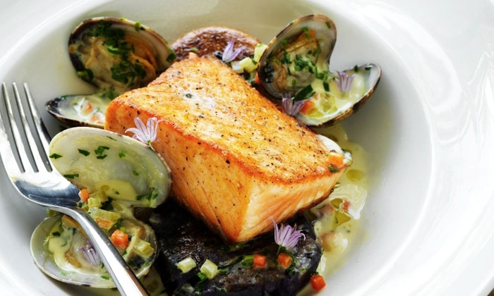 Tiburon Tavern - Tiburon: Farm-to-Table Dinner for Two with Wine on Weekdays or Weekends at Tiburon Tavern (Up to 47% Off)