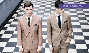 Harris and zei: Bespoke Two-Piece Suit from £399 at Harris and Zei (Up to 60% Off)