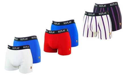 Set van 2 Replay boxers voor mannen verkrijgbaar in verschillende maten en modellen