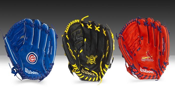 Wilson MLB Team Logo Youth Baseball Gloves: Wilson MLB Team Logo Youth Baseball Gloves. Multiple Teams Available. Free Returns.
