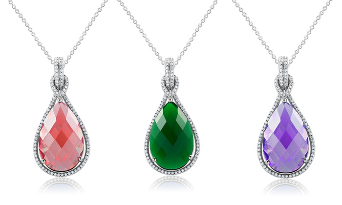 Swarovski birthstone pendants groupon goods birthstone pendant necklace with swarovski elements aloadofball Images