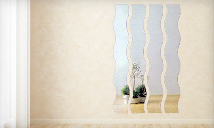 Lovely $89 for a Four-Piece Wave Mirror Set | Groupon YH07