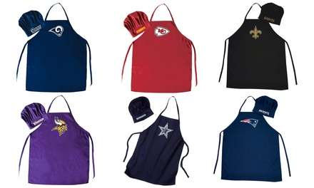 PSG NFL Cooking Apron and Chef Hat Set (2-Piece)