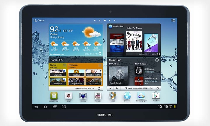 """7"""" or 10.1"""" Samsung Galaxy Tab 2: 7"""" 8GB or 10.1"""" 16GB Samsung Galaxy Tab 2 (Manufacturer Refurbished) (Up to 44% Off). Free Shipping and Free Returns."""