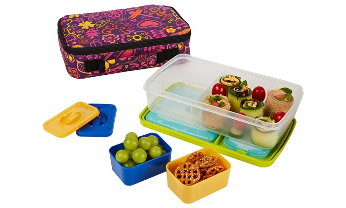 Kids Insulated Bento Lunch Kit Groupon Goods