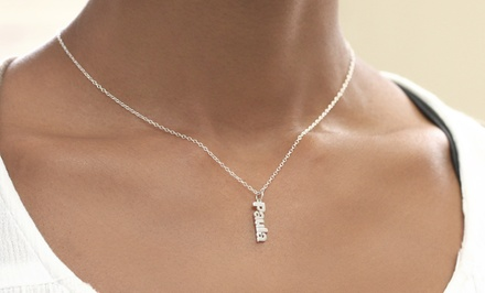 Personalized Vertical Mini Name Necklace from Monogram Online