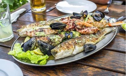 Menu di pesce con calice di vino a 39,90€euro