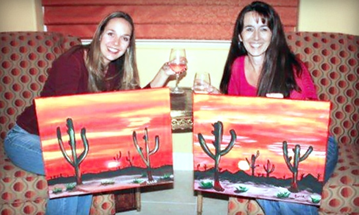 Vegas Painting Parties - Multiple Locations: Three-Hour Painting Party with Supplies for Two or Four from Vegas Painting Parties (Up to 61% Off)