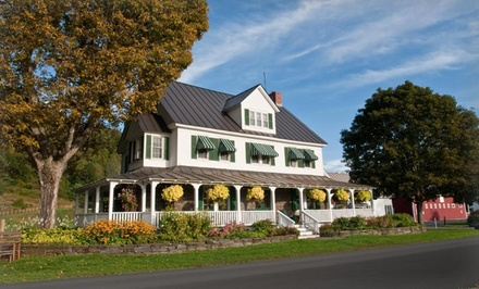groupon daily deal - 1- or 2-Night Stay for Two at Three Stallion Inn in Randolph, VT. Combine Up to 6 Nights.