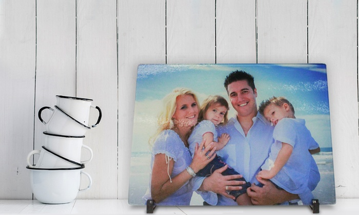"""Picture It On Canvas: One 6""""x7"""", 8""""x11"""", or 11""""x15"""" Personalized Glass Cutting Board from Picture It On Canvas (Up to 60% Off)"""