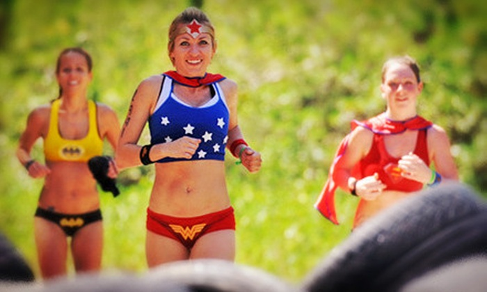 Superhero Scramble - West Whitfield: Superhero Scramble Obstacle-Course Race on (Up to 51% Off). Three Options Available.