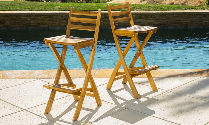 Folding Bar Stools 2 Pack Groupon Goods