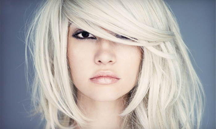 Beauty by Clara Oh at Mingle Salon - Midtown Center: Haircut and Shining-Gloss Treatment or Partial Highlights at Beauty by Clara Oh at Mingle Salon (Up to 76% Off)