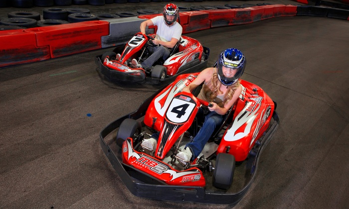 MB2 Raceway - Multiple Locations: 1 or 3 Go-Kart Races or VIP Track Pass with Race Discounts at MB2 Raceway (Up to 50% Off). Three Locations Available.