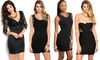 Women's Little Black Bodycon Dresses: Women's Little Black Bodycon Dresses from $17.99–$19.99