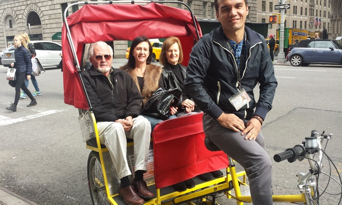 Eco Central Park Tours - Clinton: Couples Pedicab Tour or New York Walking Tour for One, Two, or Four from Eco Central Park Tours (Up to 61% Off)