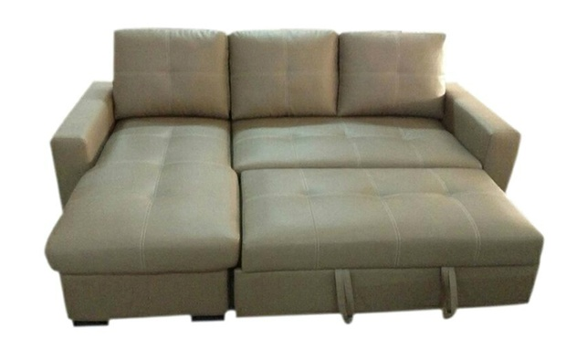 Sofa bed with storage 59 off groupon goods for Sofa bed groupon