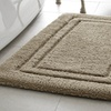 Luxe Double-Border Bath Rugs in Multiple Sizes