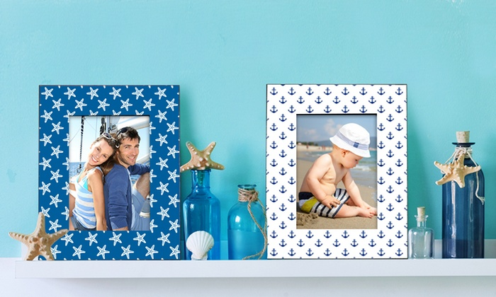 "Picture it on Canvas: Custom Easel-Back Picture Frame for a 4""x6"" or 5""x7"" Photo with Text from Picture It On Canvas (Up to 76% Off)"