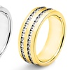 Crucible Stainless Steel and Cubic Zirconia Band Rings