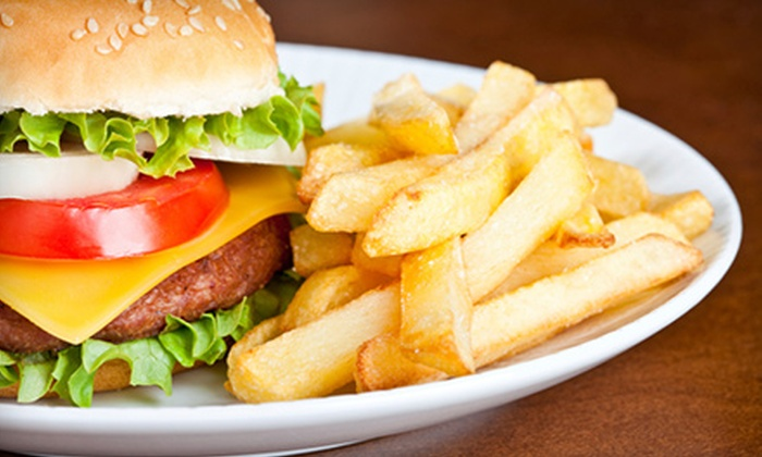 Chequers of La Grange - La Grange: Burgers and Fries with Soft Drinks for Two or Four at Chequers of La Grange (Up to 56% Off)