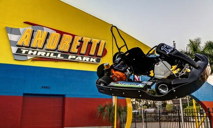 All-Day Pass for One or 3-Hour Attractions Pass at Andretti Thrill Park (Up to 42% Off)